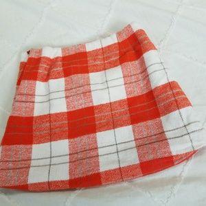 Gymboree Bottoms - Gymboree Girls size 4 Orange & White Plaid Skirt